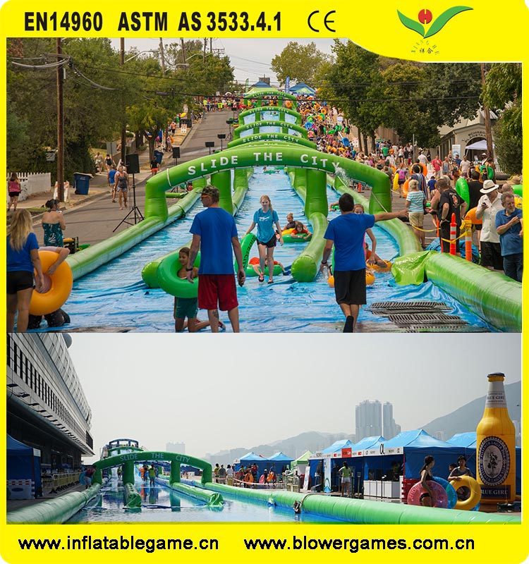 Summer event slide the city
