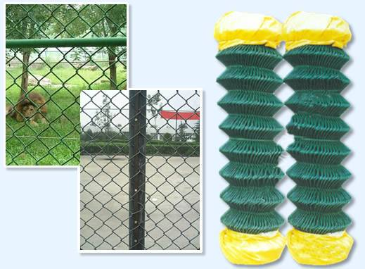 PVC coated chain link fence panels For dog kennels