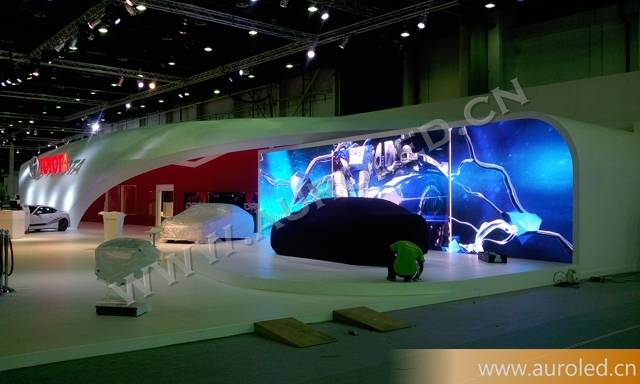 Auroled real 1080P mobile smart full color led display screen