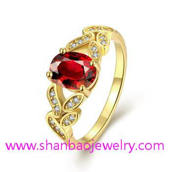 Gold Plated Costume Fashion Zircon Jewelry Rings