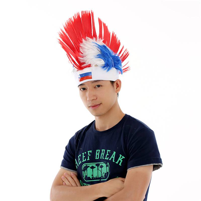 Mohawk style Sports Fan Wigs