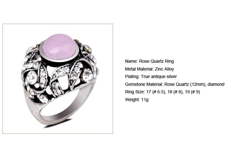 Rose Quartz Ring/CT-R0014