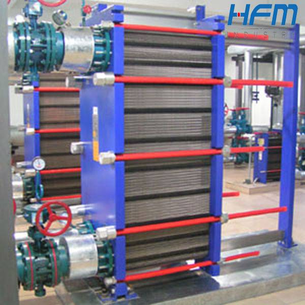 Heat exchanger plate and frame with flange