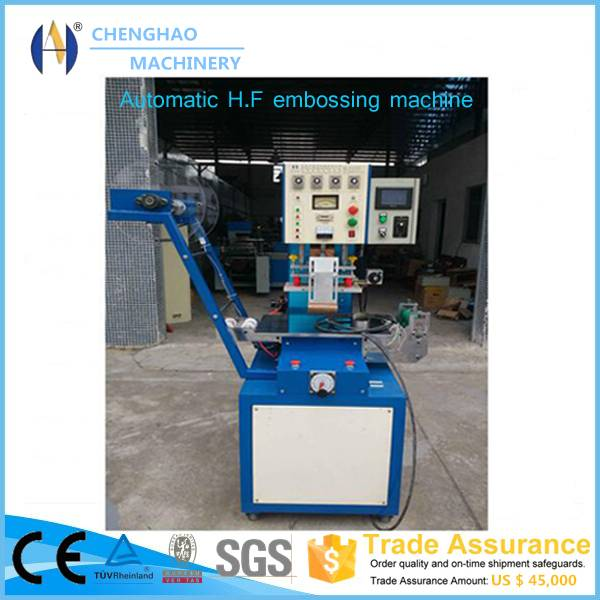 Automatic high frequency logo embossing machine for Bra straps