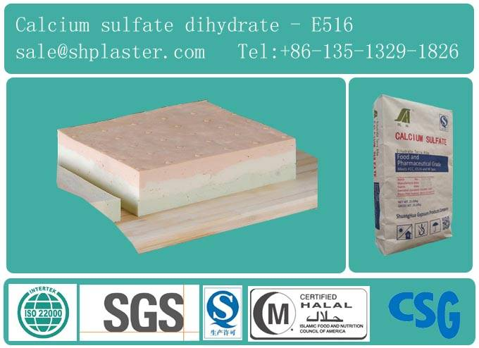 food grade calcium sulfate dihydrate for Tofu coagulant