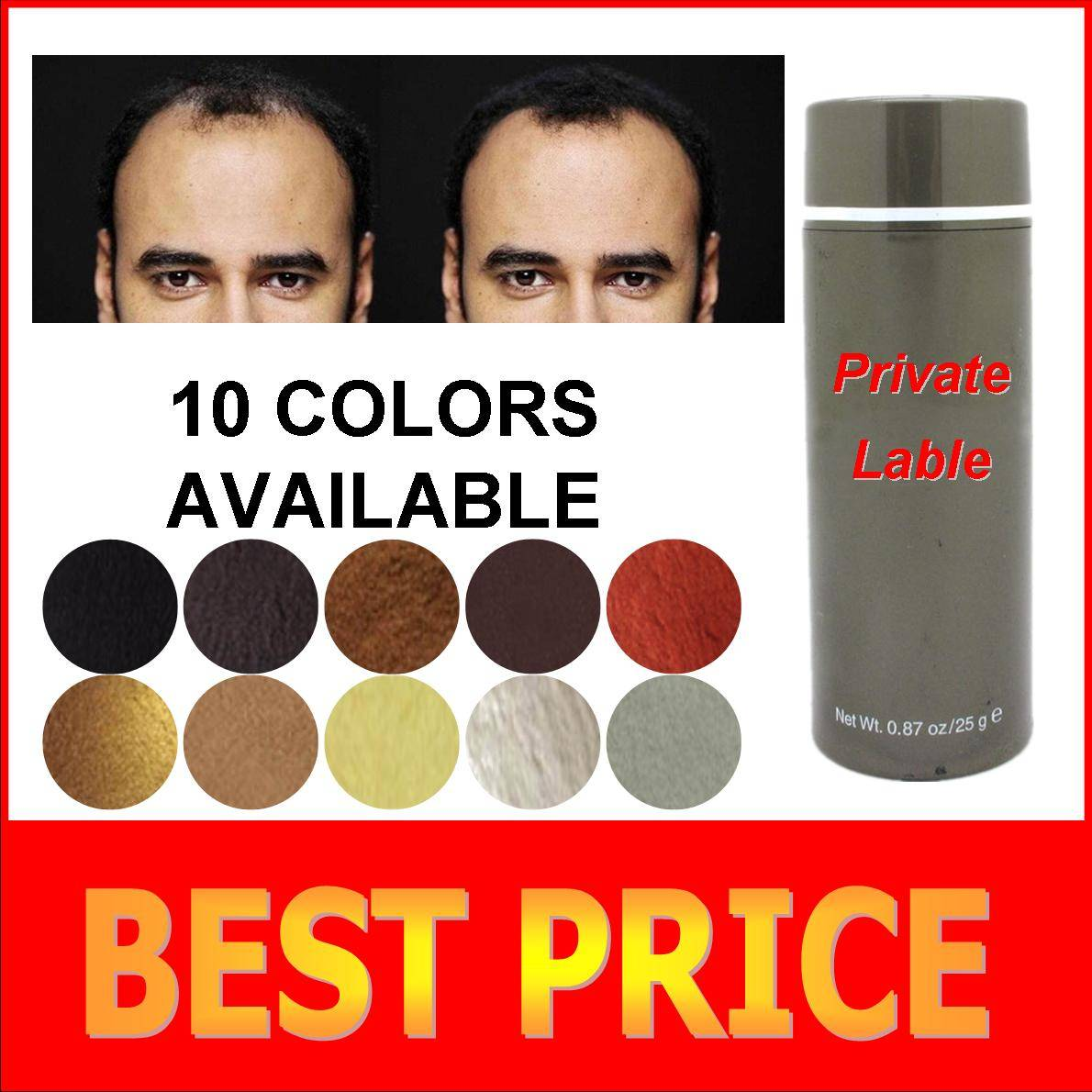2015 best hair building fiber products 25g 27.5g 10 colors available wholesale and OEM