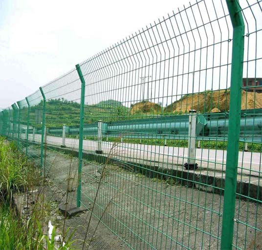 3D Curved Sshape High Security Fence System Railway Metal Wire Fence