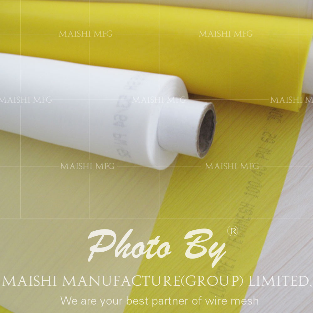 yellow silkscreen mesh