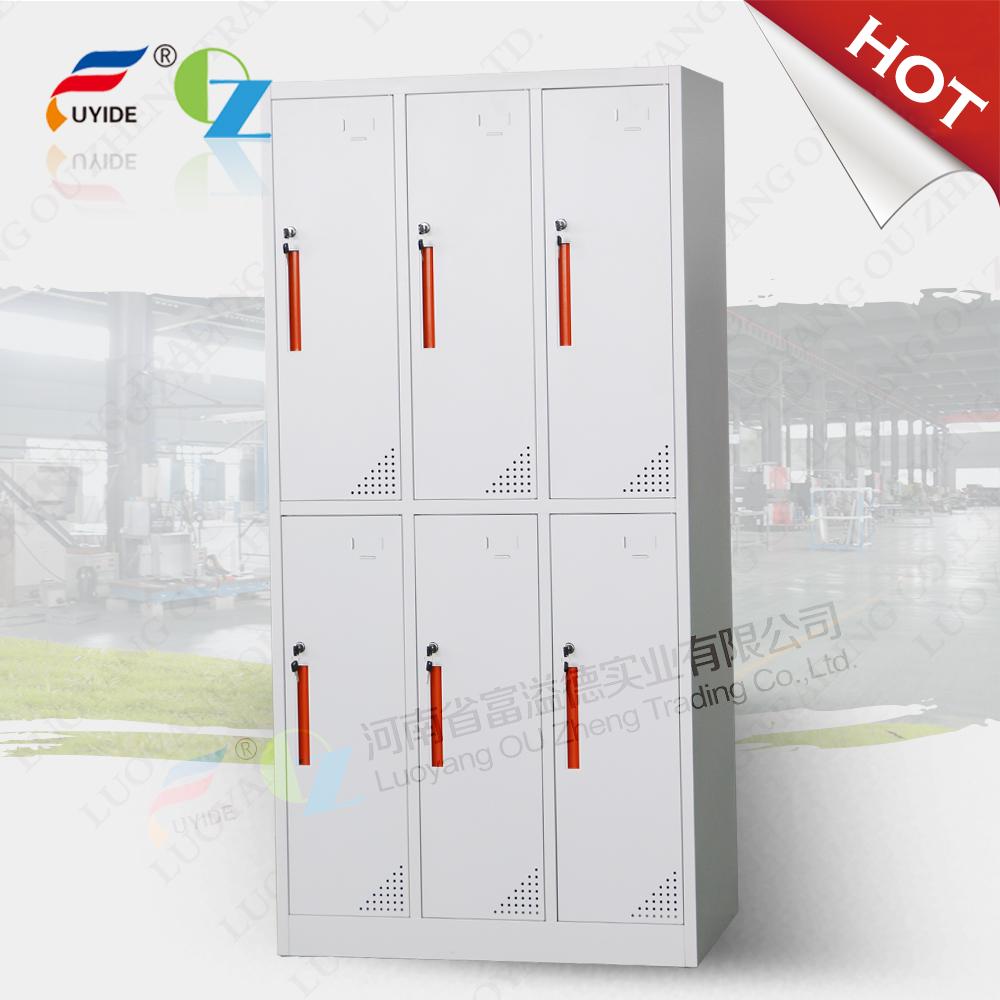 6 doors KD gym locker/clothes storage locker /swimming pool locker