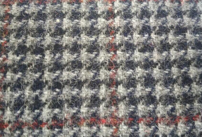 Resonable price winter&autumn woven houndstooth wool fabric 100%wool BS722007