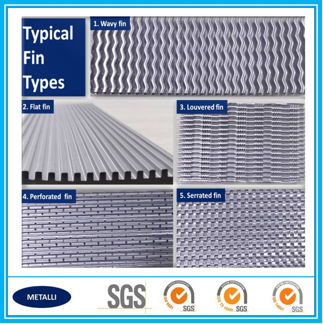 China supply heat exchanger aluminum alloy fins