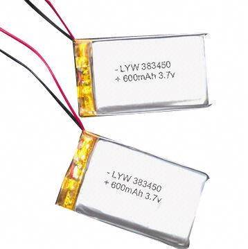 3.7V 600mAh Rechargeable Lithium Polymer Batteries with Protection Circuit PCM for Electric Products