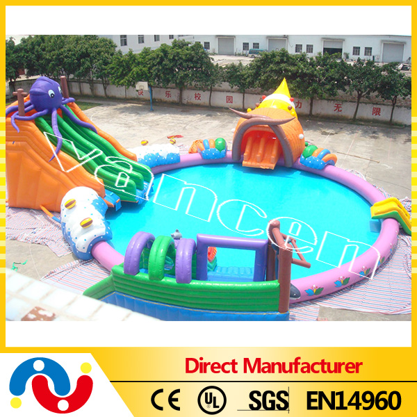 Outdoor Above Ground Giant Inflatable Water Park for Sale