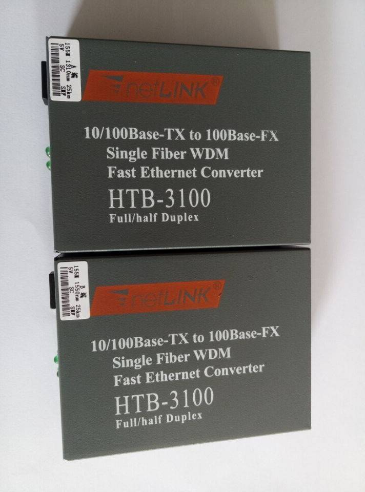 HTB-3100A/B Network optical fiber transceiver Single fiber Single mode 25KM 1*9 10/100M