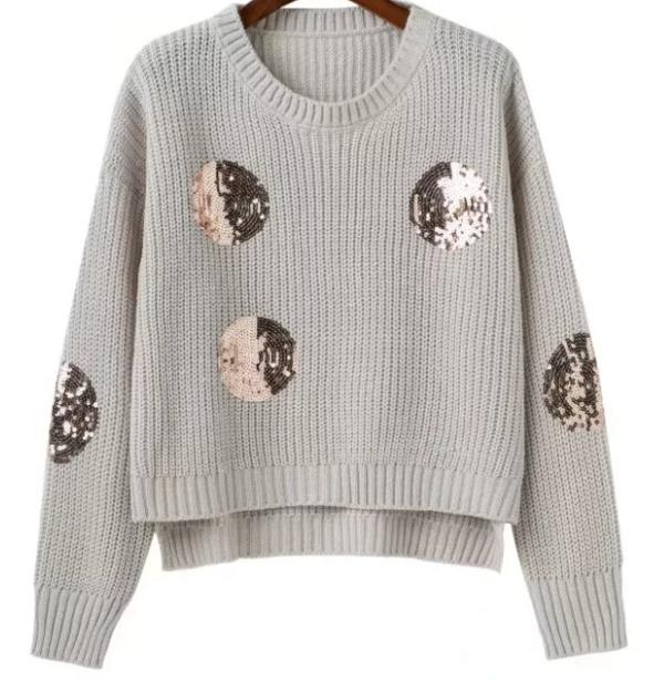 fashion crew sequins sweater