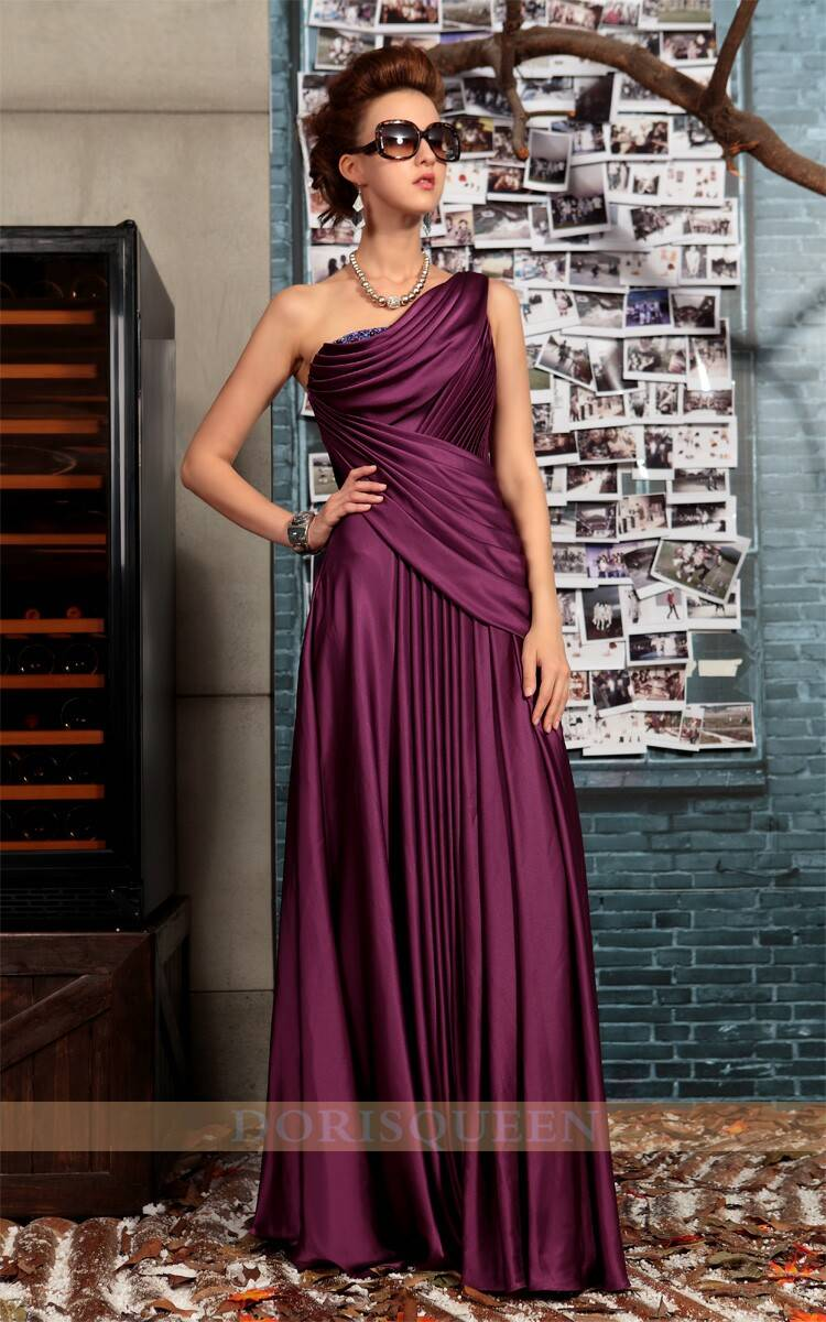 DORISQUEEN One shoulder Cheap Long Formal Evening Dresses 30718
