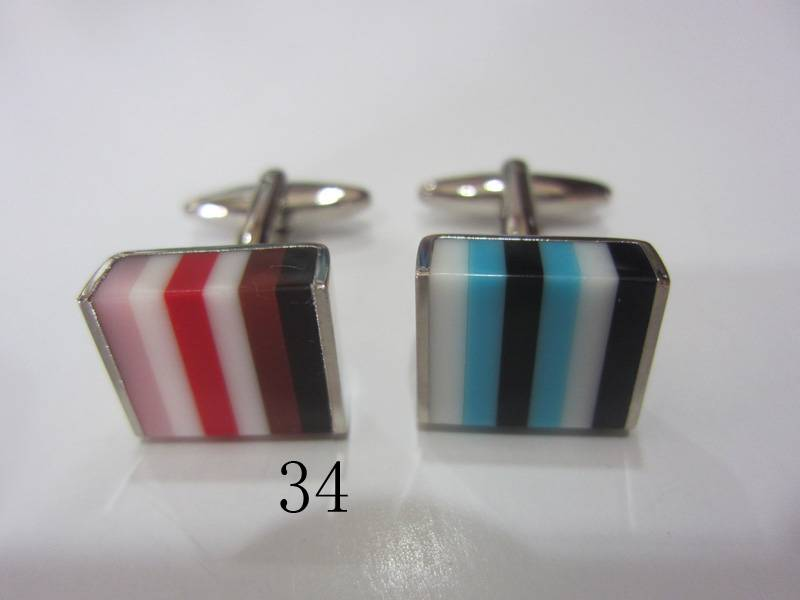 fashion cuff links and tie clips
