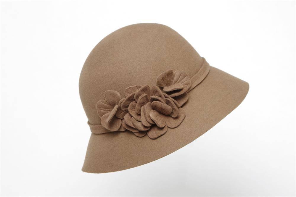 Ladies Winter Bucket Wool Felt Hat (FW003195)