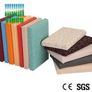 anti-fire resin frame acoustic panel with fabric packed or PU leather