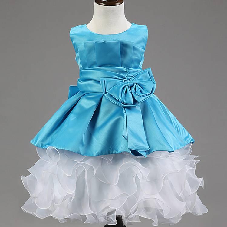 hand made three-dimensional rose flower girls' princess dress children's party dress sleeveless form