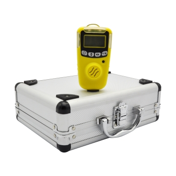 portable gas alarming detector with replaceable battery