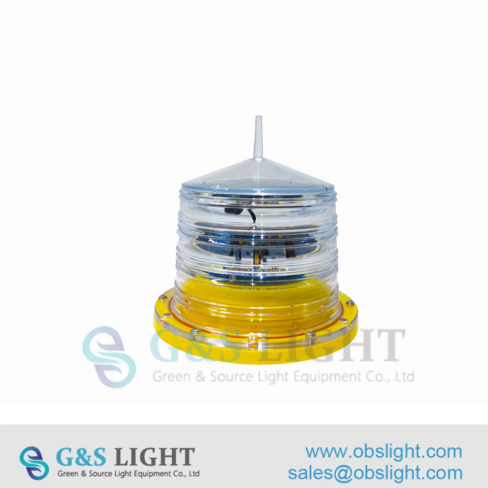 Low intensity Solar Powered Obstruction Light