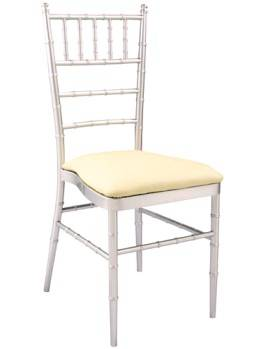 imitated bamboo chiavari chair with cushion, upholstery white hotel seat, banquet restaurant event f