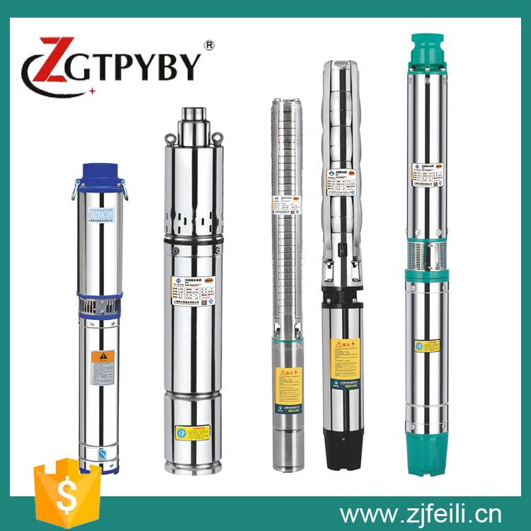 Agricultural irrigation stainless steel submersible deep well water pump for sale