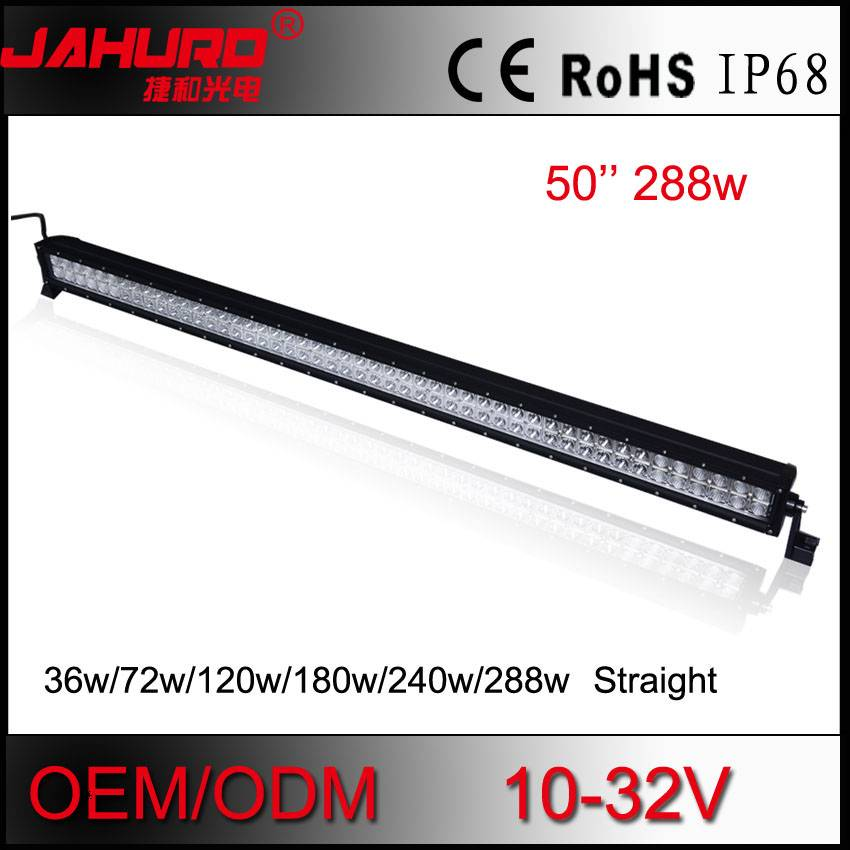 double row 4x4 off road car led light bar 300w 12v waterproof 52'' led work light bar offroad light