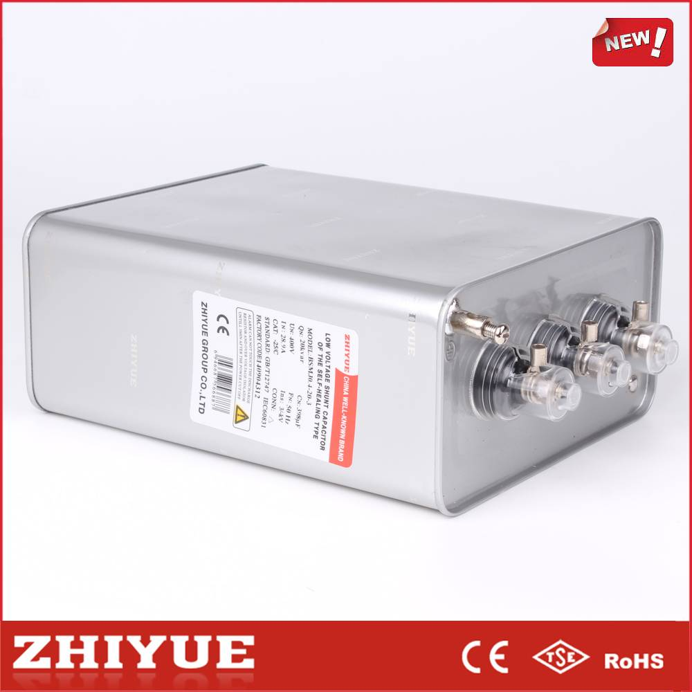 ZHIYUE BSMJ0.4-30-3 3 phase bsmj power capacitor 6 kvar
