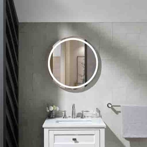Aluminum frame wall mounted illuminated bath LED mirror
