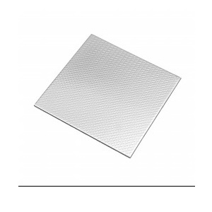 VerBlock Designed Color Pattern Stainless Steel Tiles Board Check, Color - Silver, Size - 100 X 100