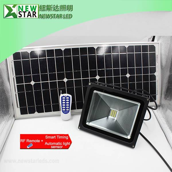 DC12V 10w RF remote dimmable solar led flood lights, solar led floodlight with Remote