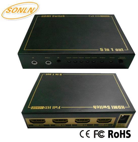 5x1 HDMI Switch 1080P 3D 4Kx2k with IR