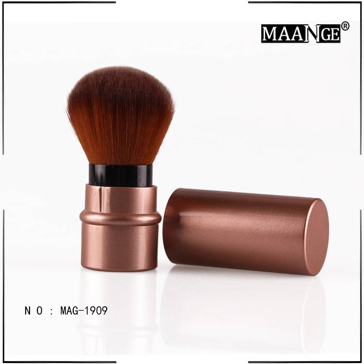 MAANGE Retractable makeup blush brush with plastic handle