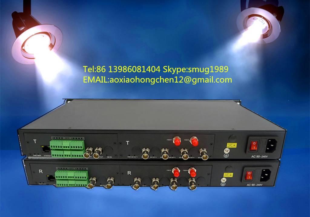 Remote Camera Over Fiber Optics System for 4K SDI camera remote control,support tally,remote,interco