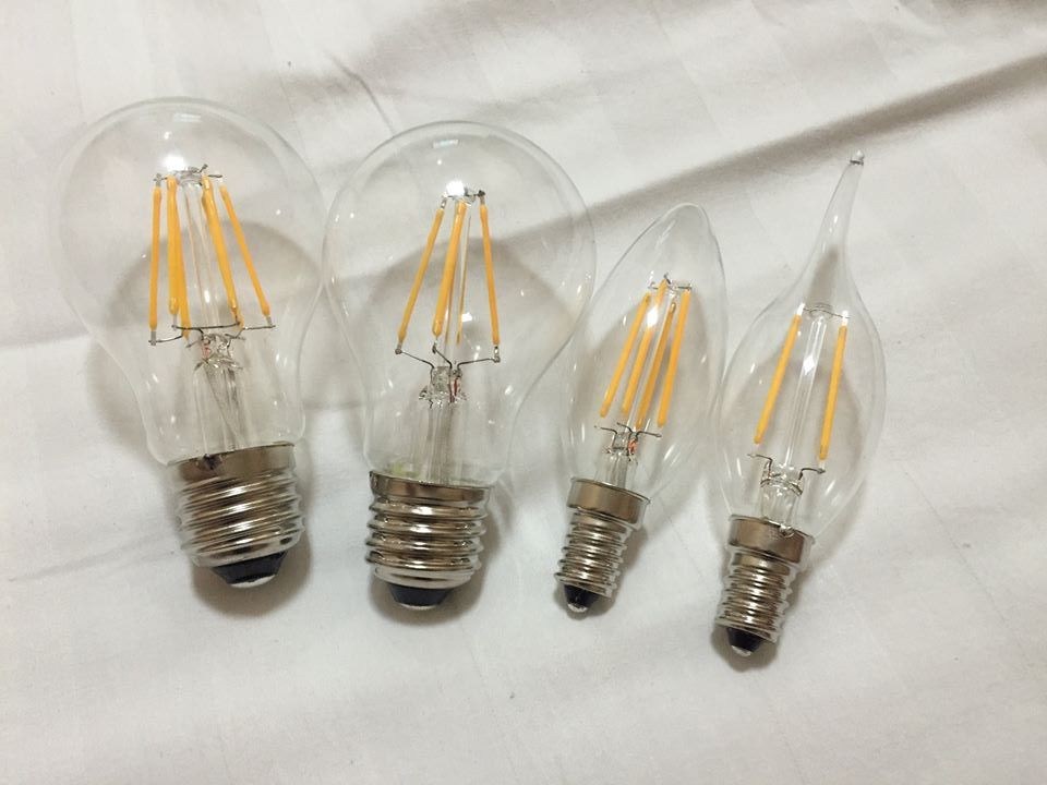 clear glass A60 Global shape filament lamps led indoor lighting
