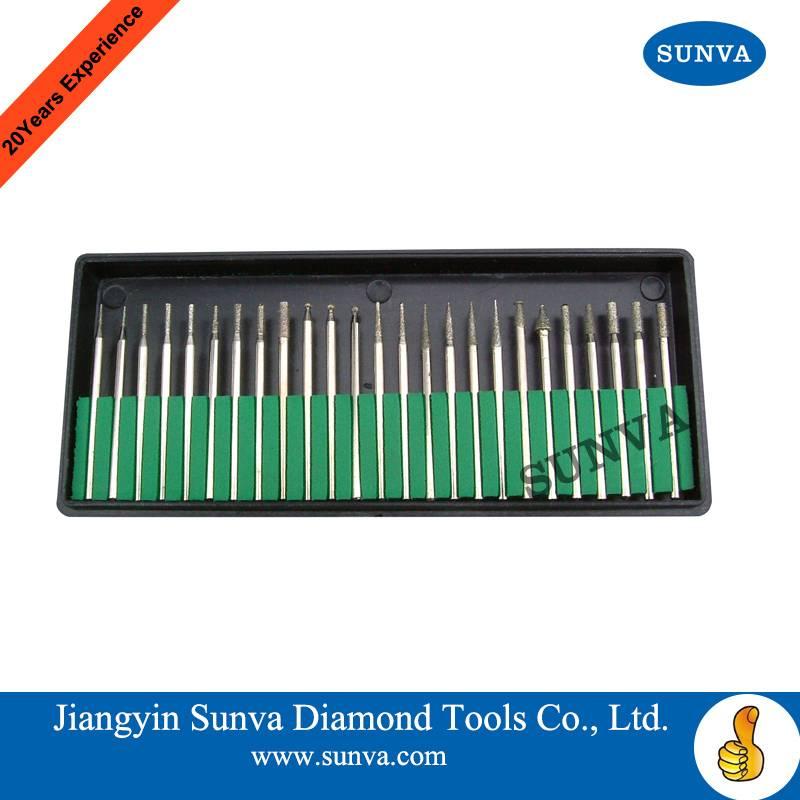 SUNVA Electroplated Diamond Mounted Points / Diamond burs /Diamond Tools