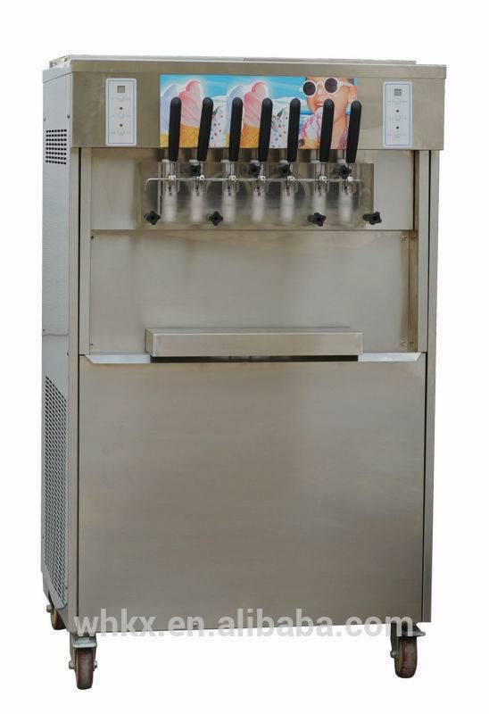 Easy Operating Stainless Steel Shell Ice Cream Yogurt Making Machine