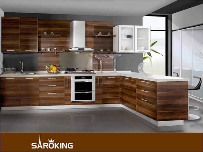 Modern Style Veneer Melamine Kitchen Cabinet