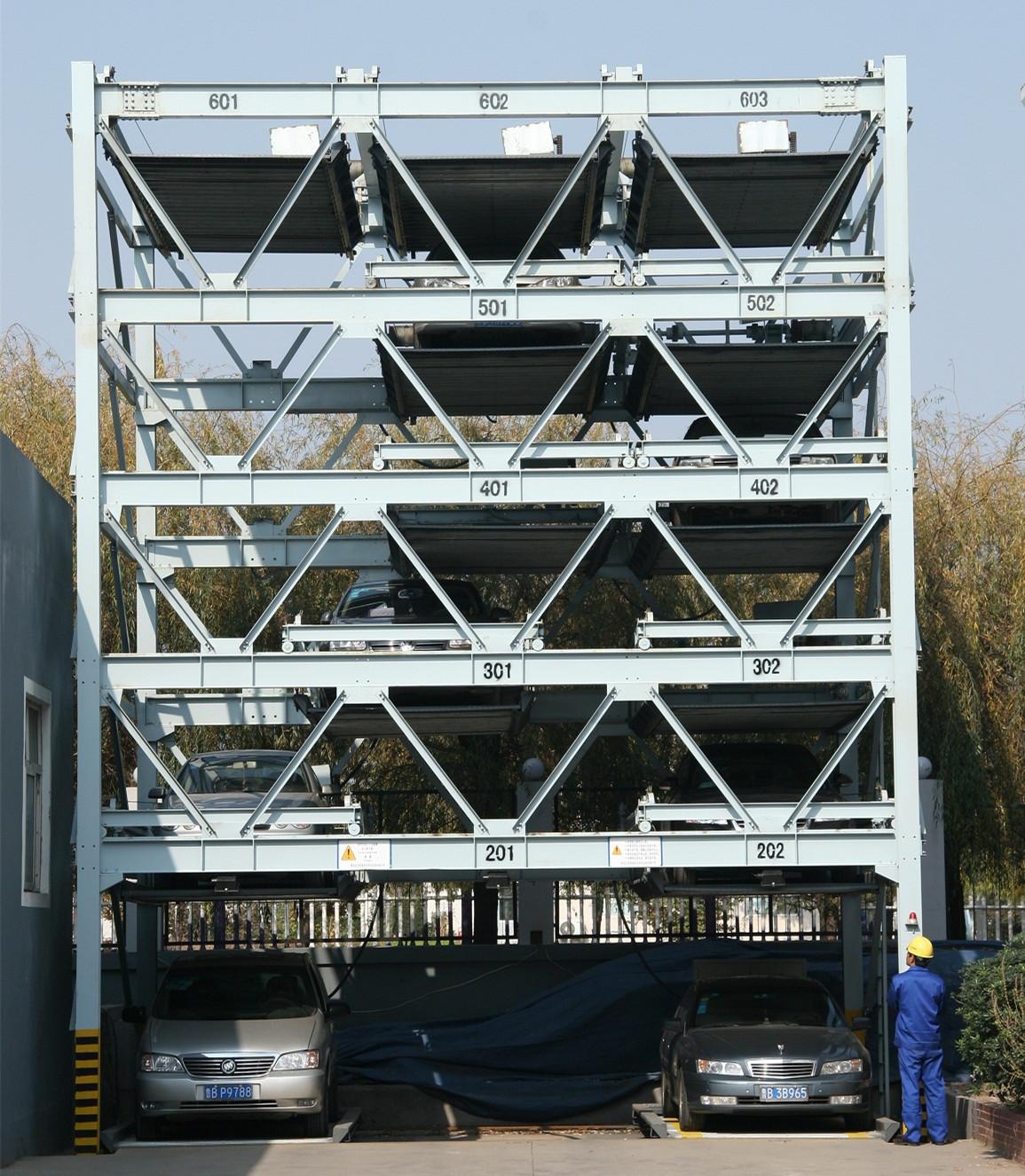 car parking system 6 floors lift-sliding auto parking system