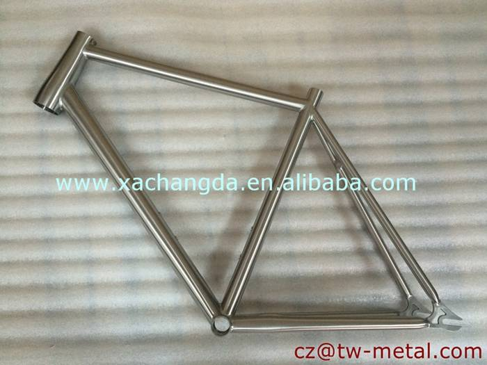 Customized Titanium track bicycle frame with taper head tube track bike frame