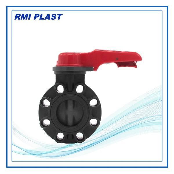 wafer type PVDF butterfly valve DIN PN10, ANSI CL150, JIS10K