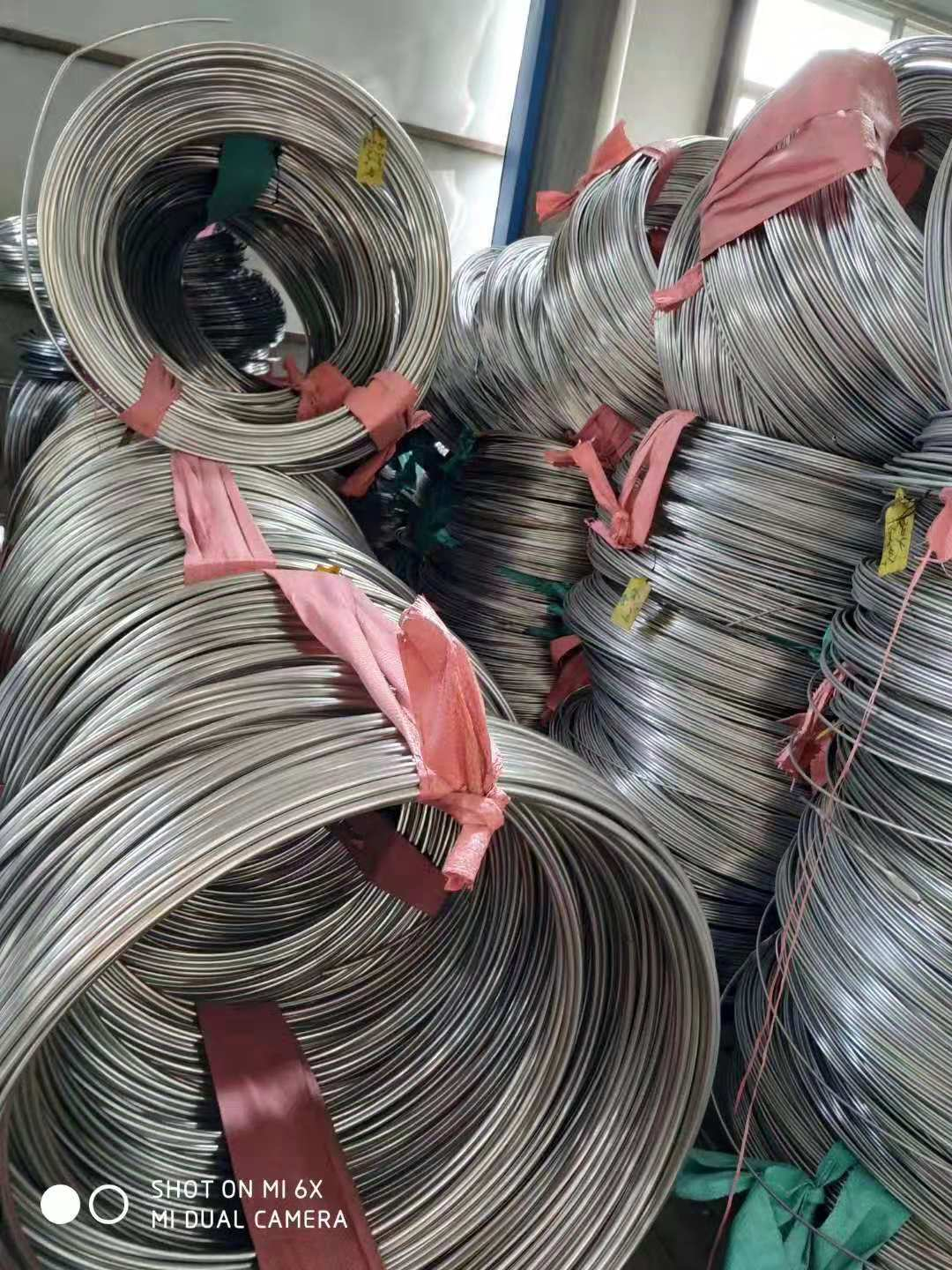 TP304L Small Diameter Stainless Steel Coiled Tubing For Cable Industry
