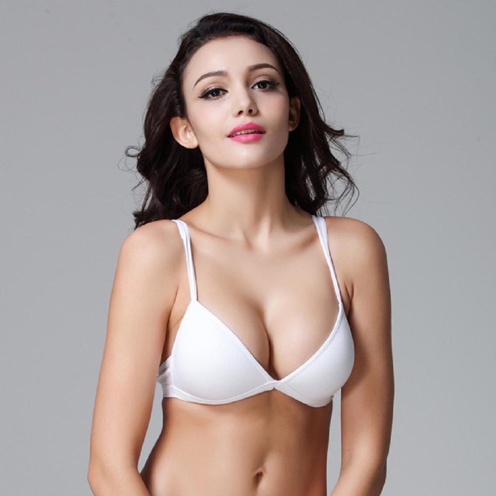 Teenage Girls' Wire Free Cotton Bra Essential Triangle BH Small Size Bikini Bralette For Women A B C