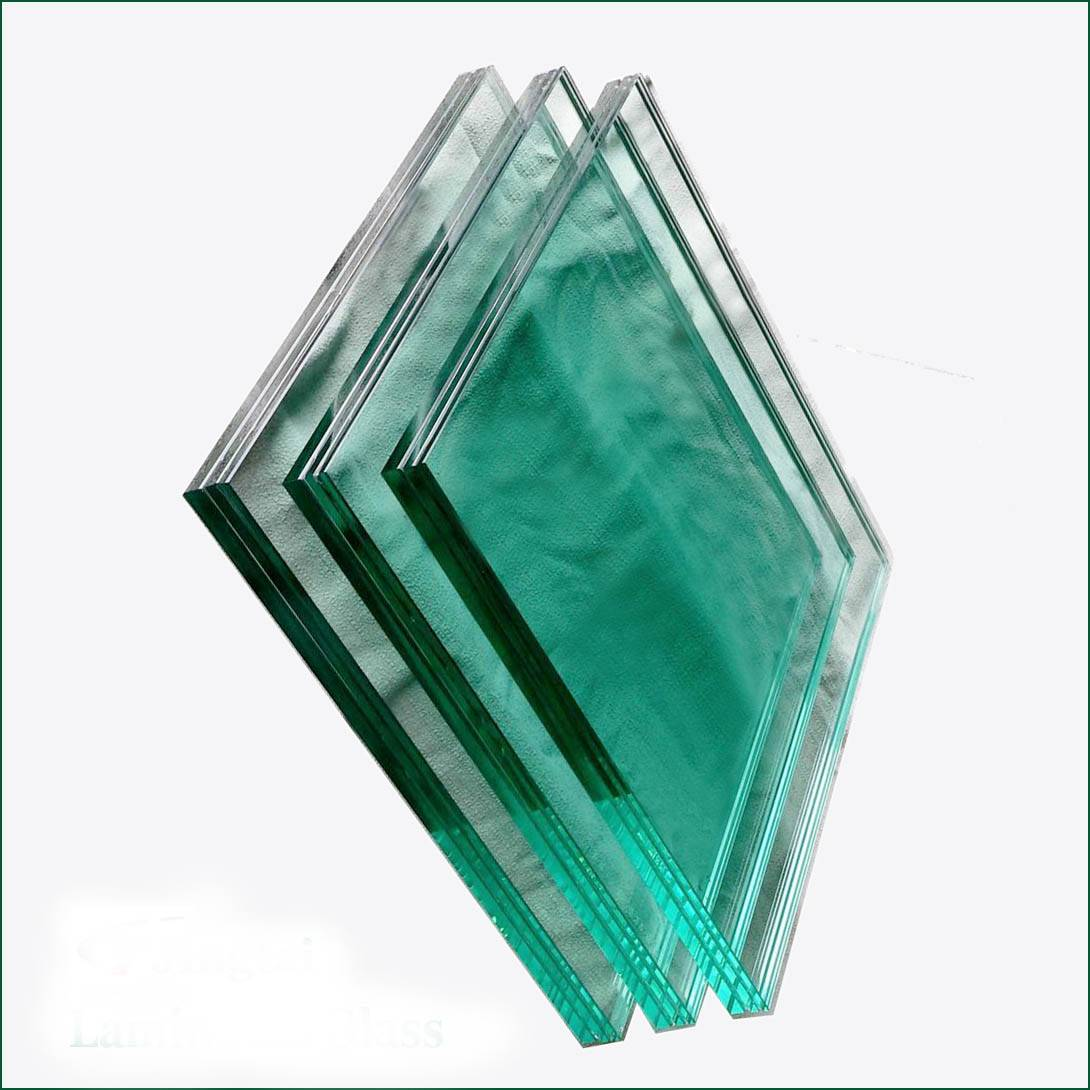 High quality safety laminated glass for stair with high quality standard