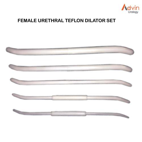 Female urethral Teflon dilator SET