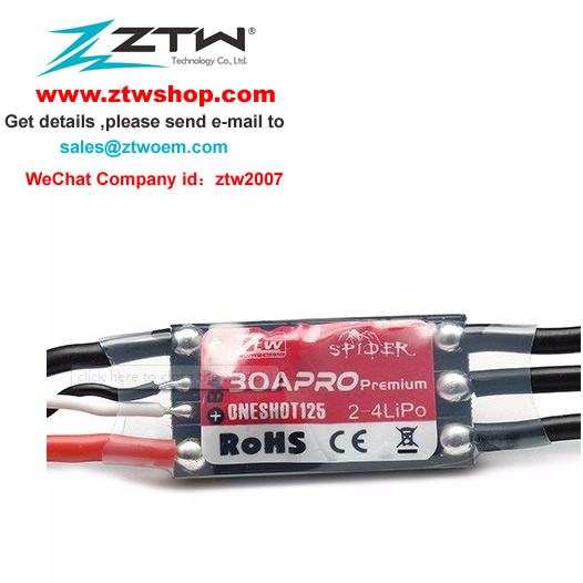 ZTW Spider PRO Premium 30A OPTO 2-4S ESC Electronic Speed Control For RC Multirotor