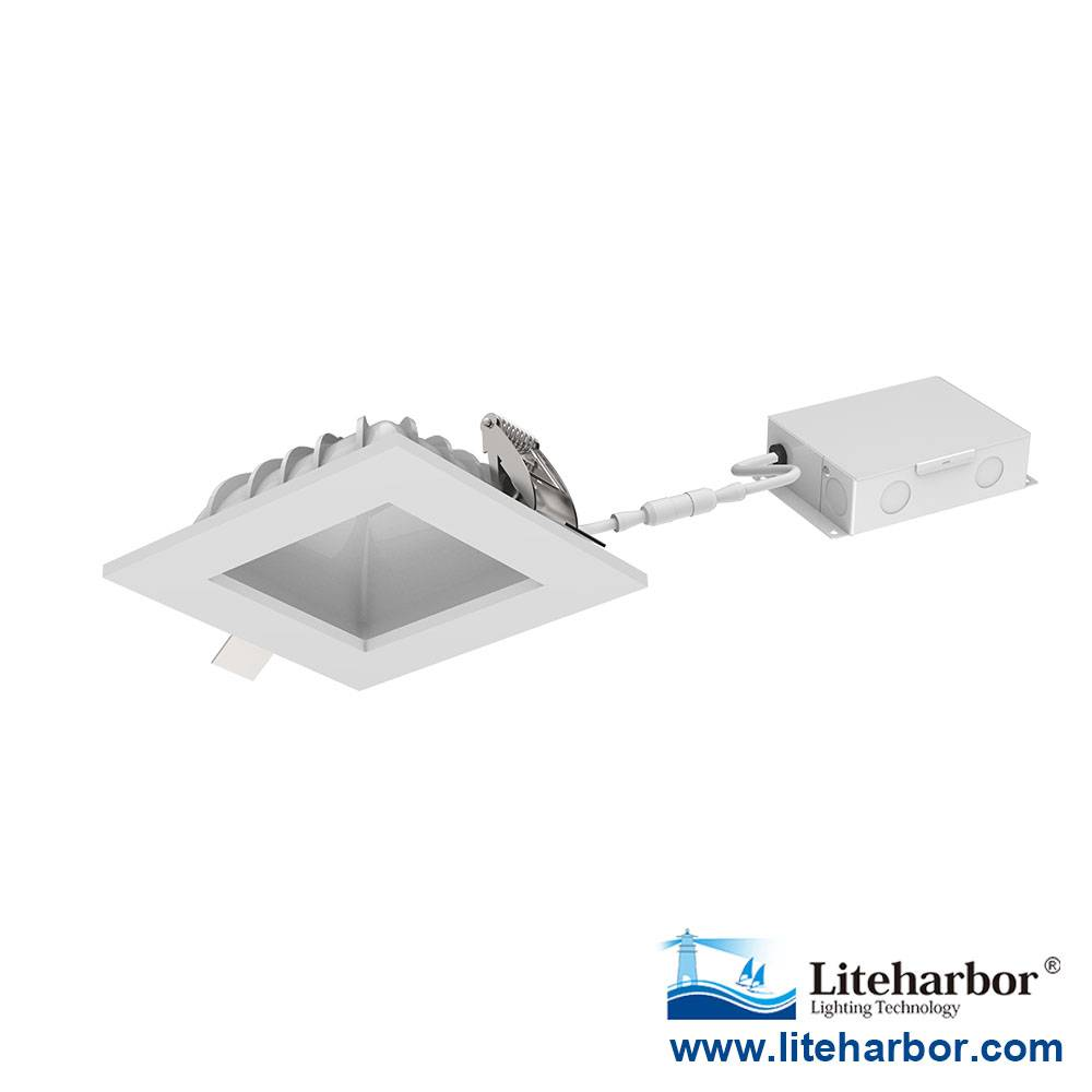 4 inch Square Ceiling LED Recessed downlight with LED Driver and Junction Box
