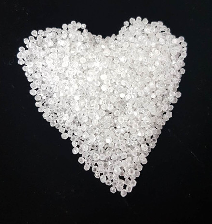 High quality white color HPHT rough diamond for jewelry use